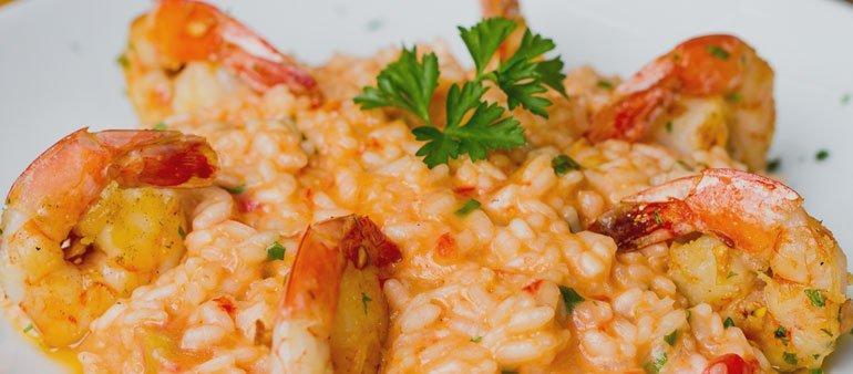 Primeiro prato: Risoto de camarão