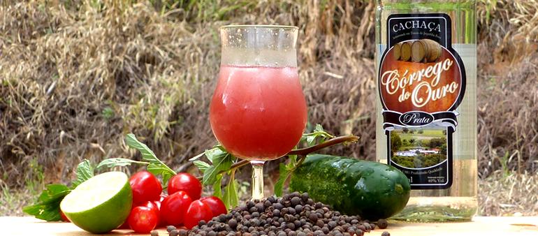 E para quem gosta de um drink salgado: Batida de Tomate